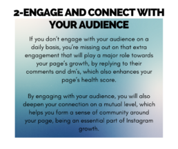 Tip 2 - Engage and connect with your audience