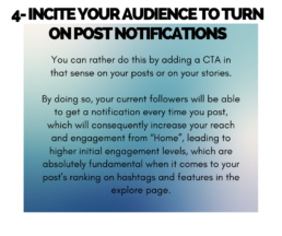 Tip 4 - Incite your audience to turn on post notifications