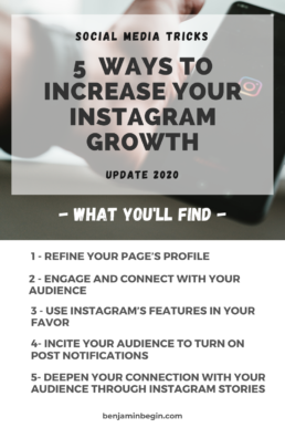 Cover Design that explain post: 5 Ways To Increase Your Instagram Growth